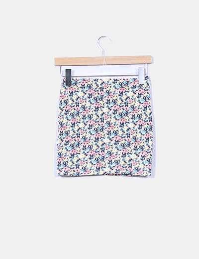 Mini falda elastica floral