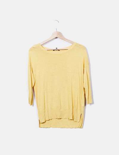 Massimo Dutti T-shirt jaune tricot (réduction 81%) - Micolet 1fdfe3f6b4f9