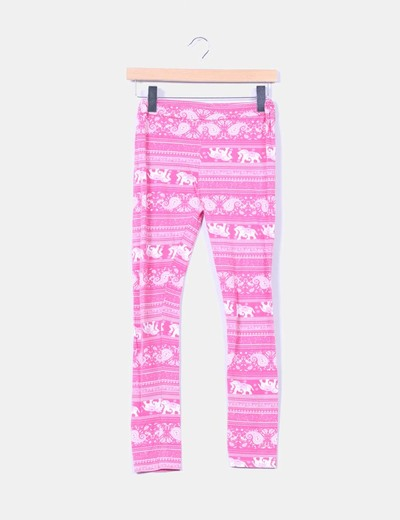 Leggings rosas print elefantes NoName