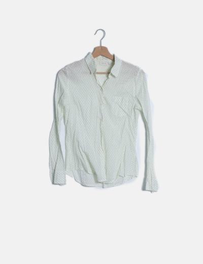 Camisa verde rombos manga larga