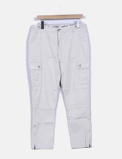 Pantalón beige estilo safari Cortefiel