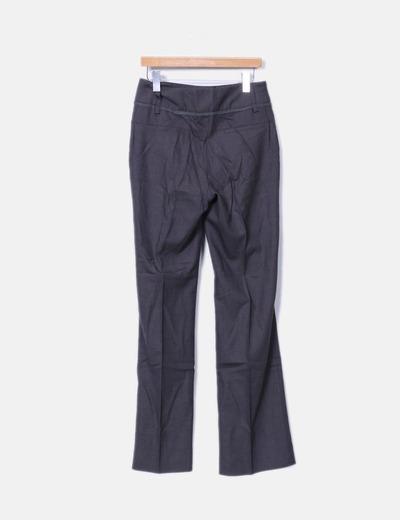 Pantalon marron oscuro jaspeado