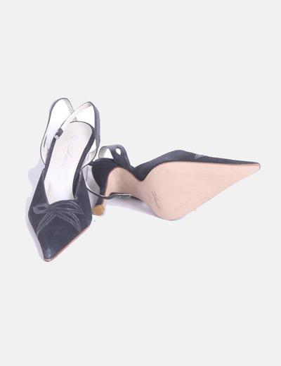 325a3ef6f Charles Zapato de punta negro destalonado (descuento 71%) - Micolet
