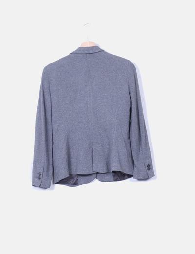 Blazer algodon gris oscuro