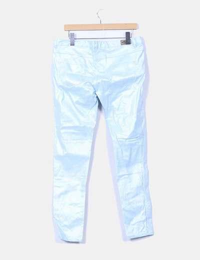 Pantalon azul con brillo