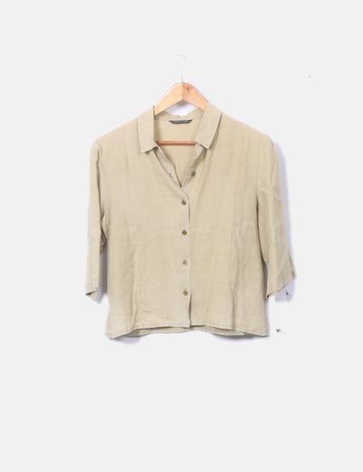 Camisa de lino verde