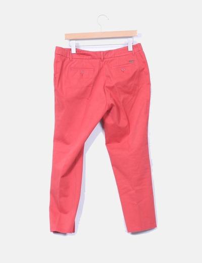 Pantalon chino color teja