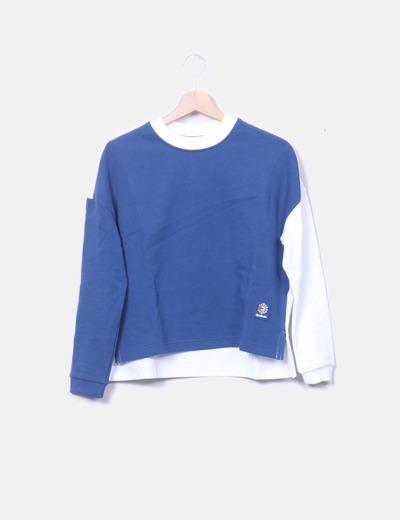 Reebok Zweifarbiges klassisches Sweatshirt von Reebok (Rabatt 57 ... 4532fe0f73