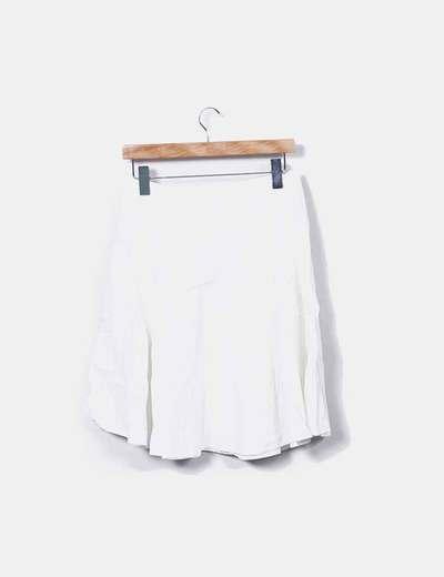 Falda midi blanca evase