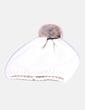 Gorro de punto blanco glitter con pompón Sfera
