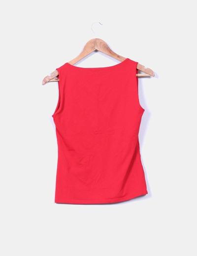 Camiseta roja elastica