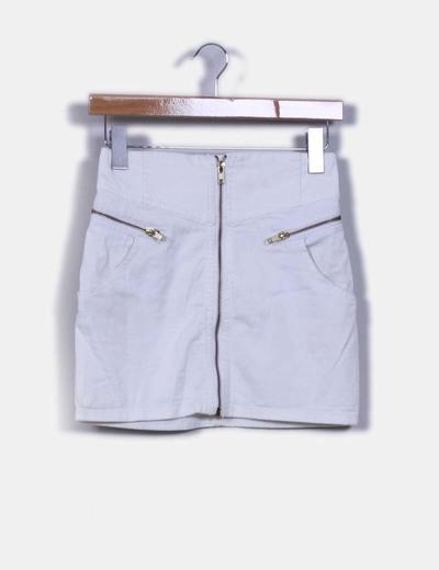 Mini falda blanca  H&M