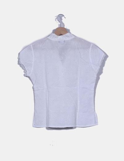 Camisa blanca texturizada
