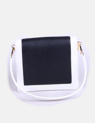 Bolso mini estructurado blanco y negro