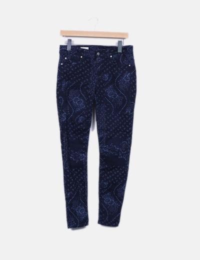 Jeans floraux NoName