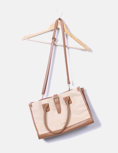 Bolso tote bag combinado Pull&Bear