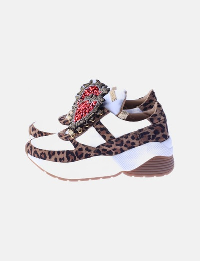 Zapatila bamburi animal print
