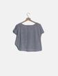 Camiseta manga corta gris con glitter Bershka