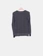 Jersey tricot azul marino rayas blancas Pull&Bear