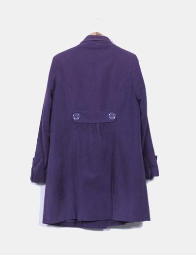 Abrigo largo terciopelo morado