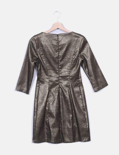 Vestido Zara Glitterdescuento Vestido 75Micolet Dorado Zara m8w0OvNn