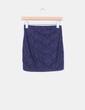 Mini falda azul marino encaje Stradivarius