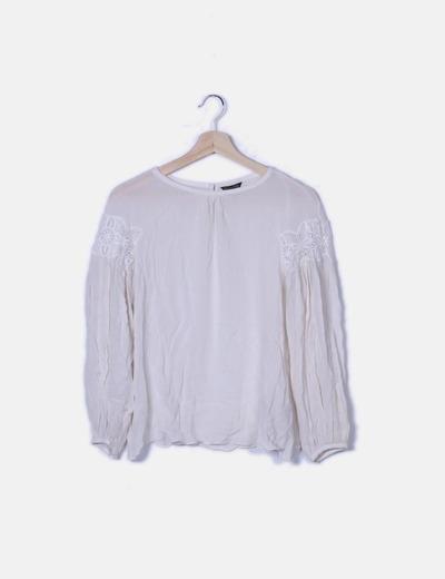 Blusa seda blanca