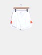 Shorts fluido blanco laterales flúor Fashion Pills