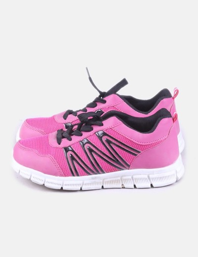 Deportiva rosa y negra Some Time