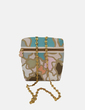 Bolso estampado colores detalles dorados Tous