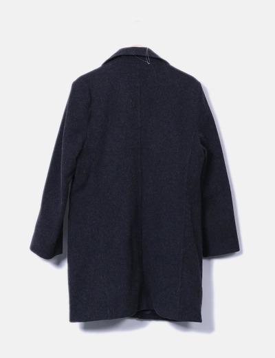 Abrigo gris de pano
