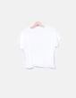 Camiseta blanca dibujo hamburguesa Zara