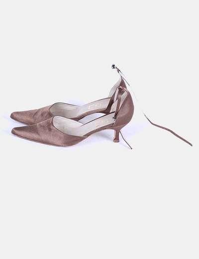 Zapato bronce atado al tobillo Di Palazzo