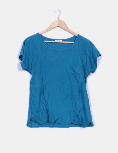 Camiseta básica azul petróleo  Bimba&Lola