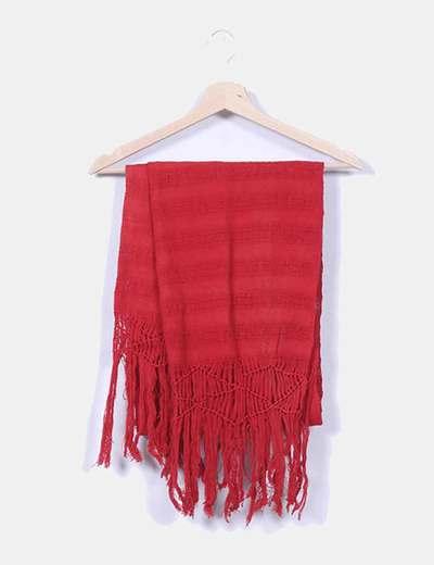 Foulard rojo con flecos NoName