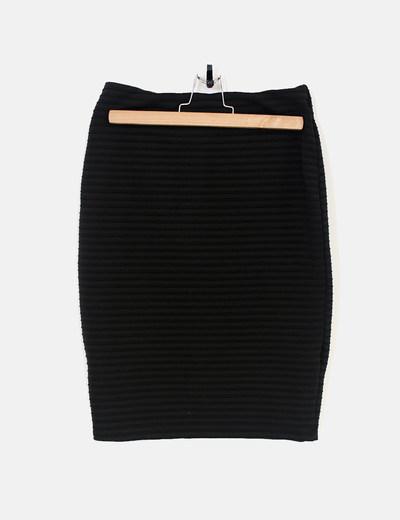 81f8f58ee5 Suiteblanco Falda tubo negra elástica (descuento 68%) - Micolet