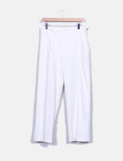 Pantalón recto de rayas NoName