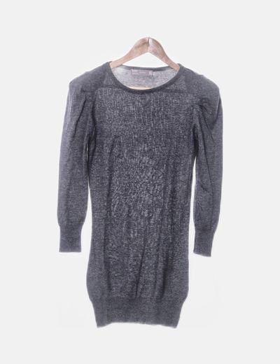 Vestido tricot gris oscuro