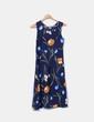 Vestido azul marino floral NoName