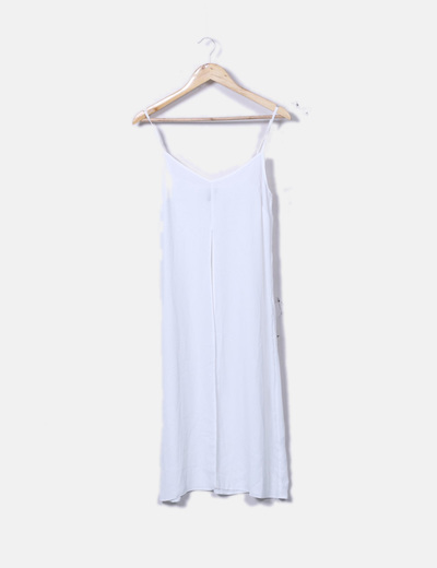 Vestido fluido blanco de tirantes