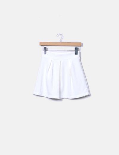 Falda mini blanca