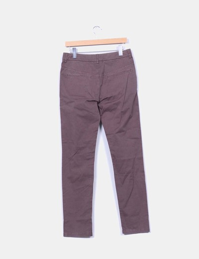 Pantalon chino marron