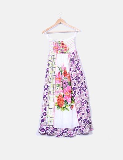Vestido maxi floral con estampado