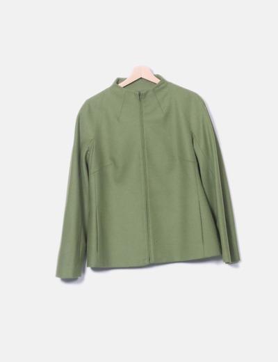 Abrigo cuello mao verde