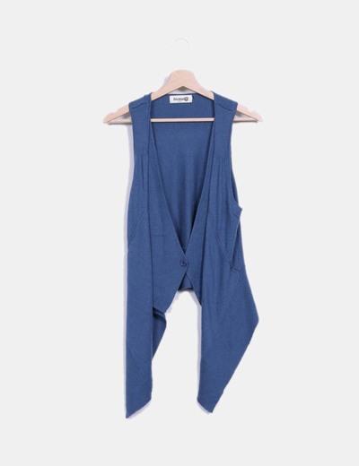 Gilet bleu en tricot Fórmula Joven