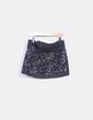 Mini falda acolchada blanco y negro Pull&Bear