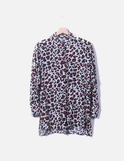 Camisa gris animal print