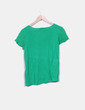 Camiseta verde doble textura Zara