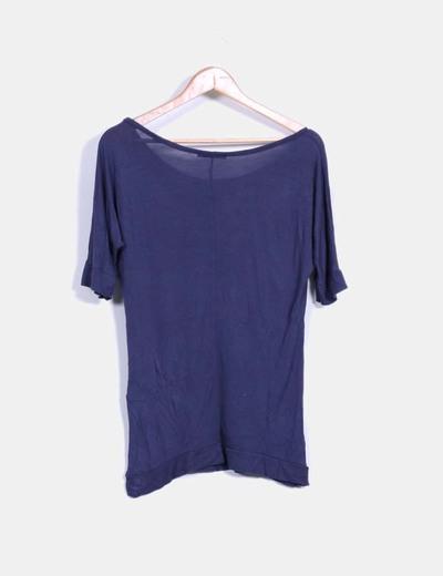 Camiseta azul marino oversize