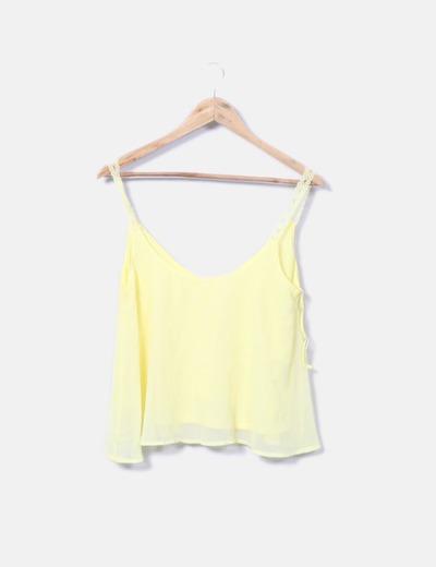 Blusa tirantes amarilla Lefties